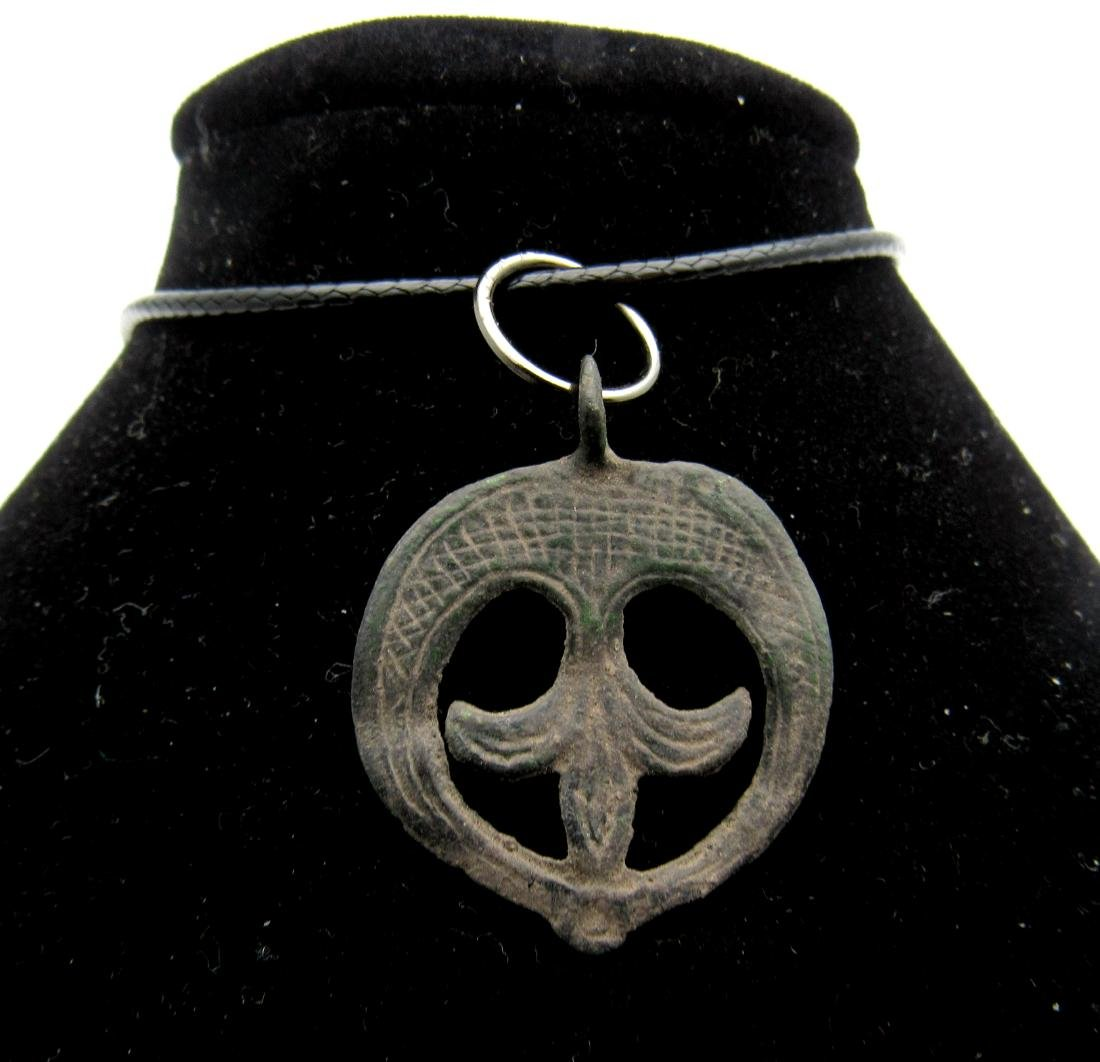 Viking Amulet with Lunar Motif