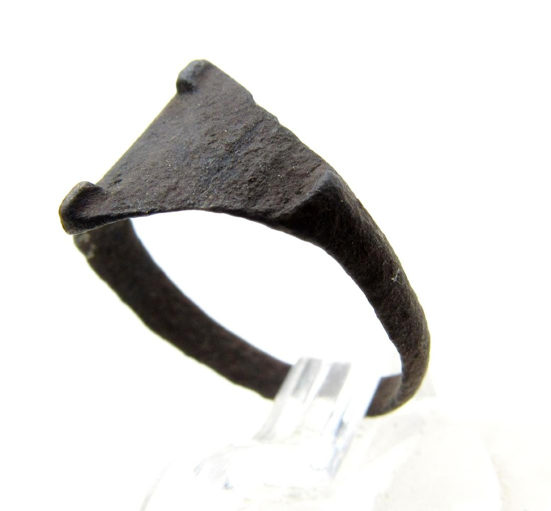 Wearable Viking Ring with decorated Bezel