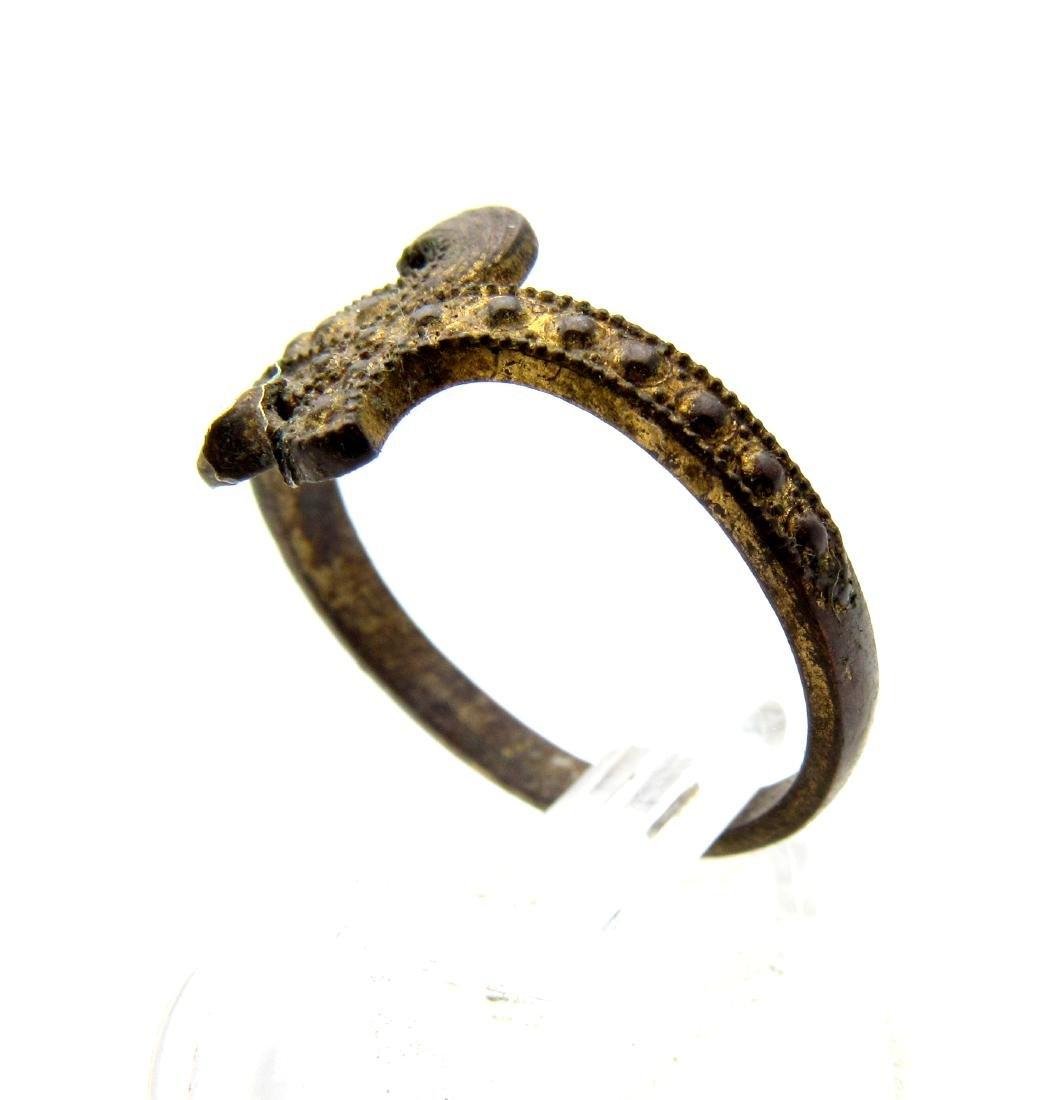 Wearable Viking Gilded Bronze Snake Ring