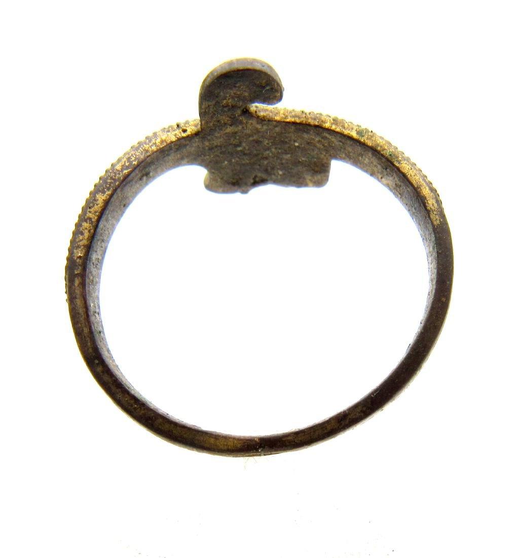 Wearable Viking Gilded Bronze Snake Ring - 2