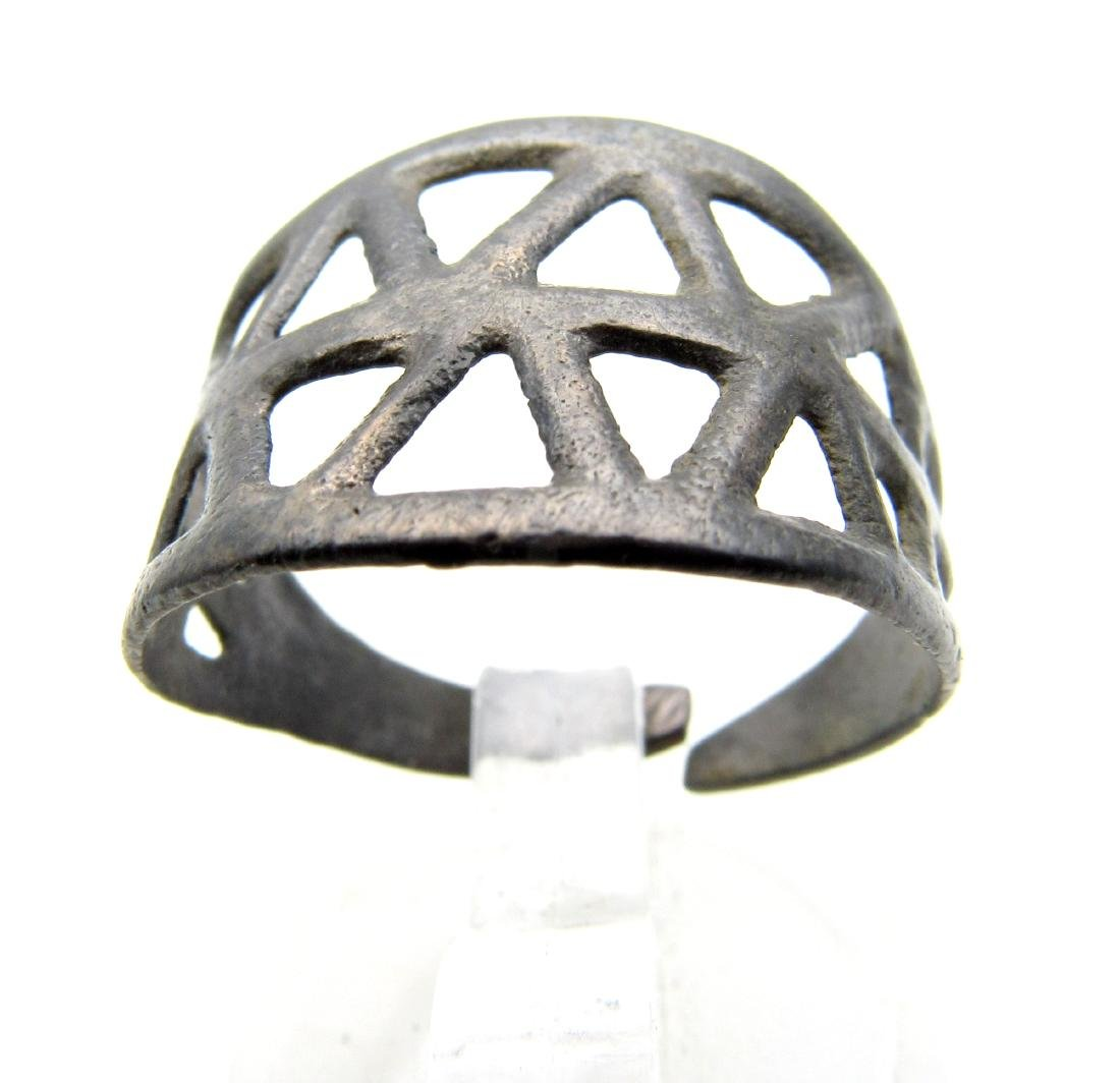 Wearable Viking Openwork Ring - 3