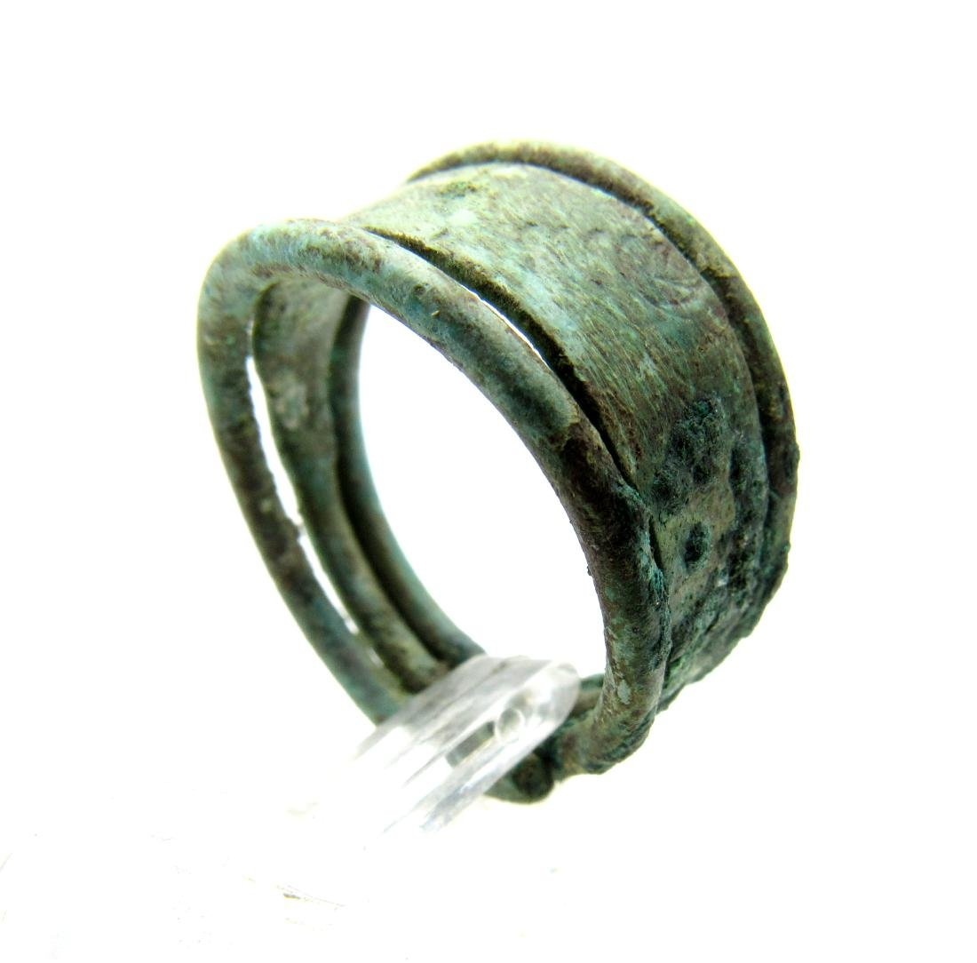 Wearable Viking Ring shaped as coiled Snake