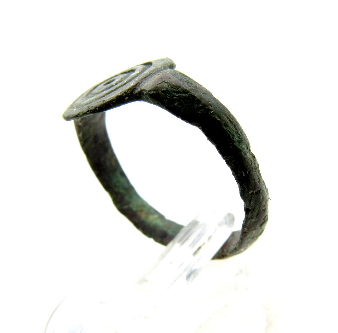 Wearable Viking Astrological Ring with Sun Symbol