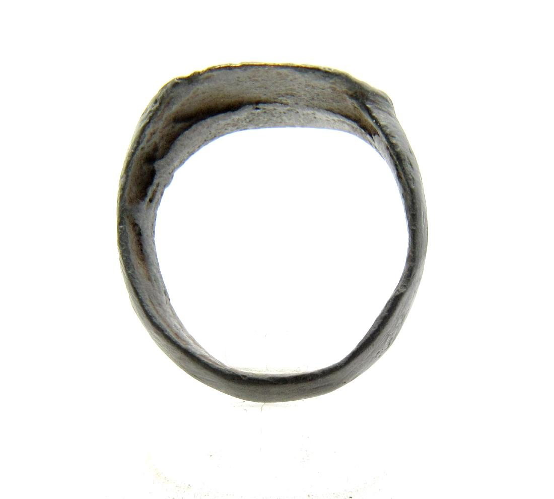 Wearable Roman Ring with Criss-Cross Pattern