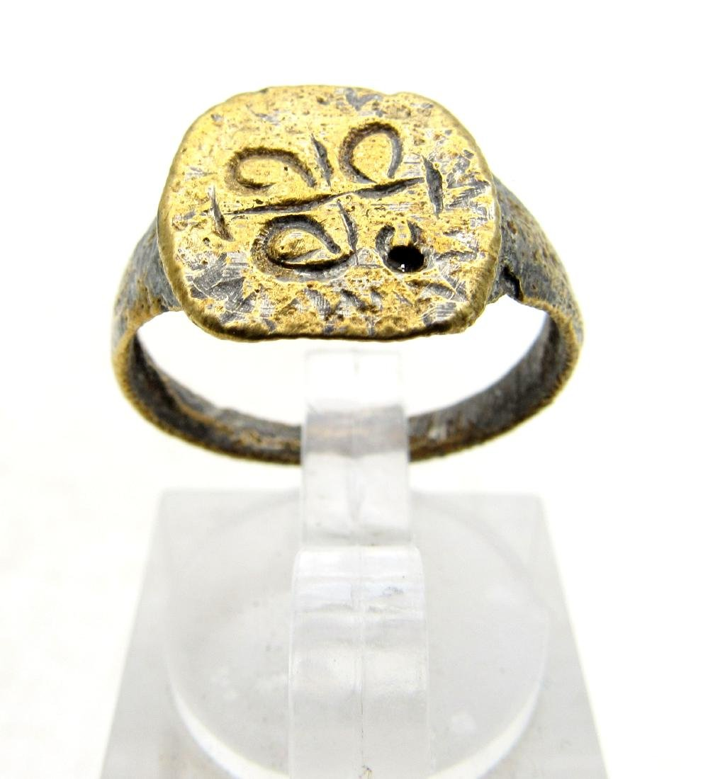 Wearable Viking Ring with Runic Symbols