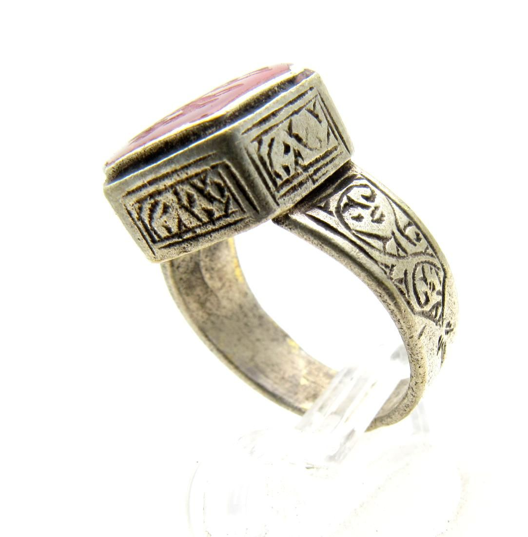 Wearable Post Medieval Carnelian Intaglio Ring with