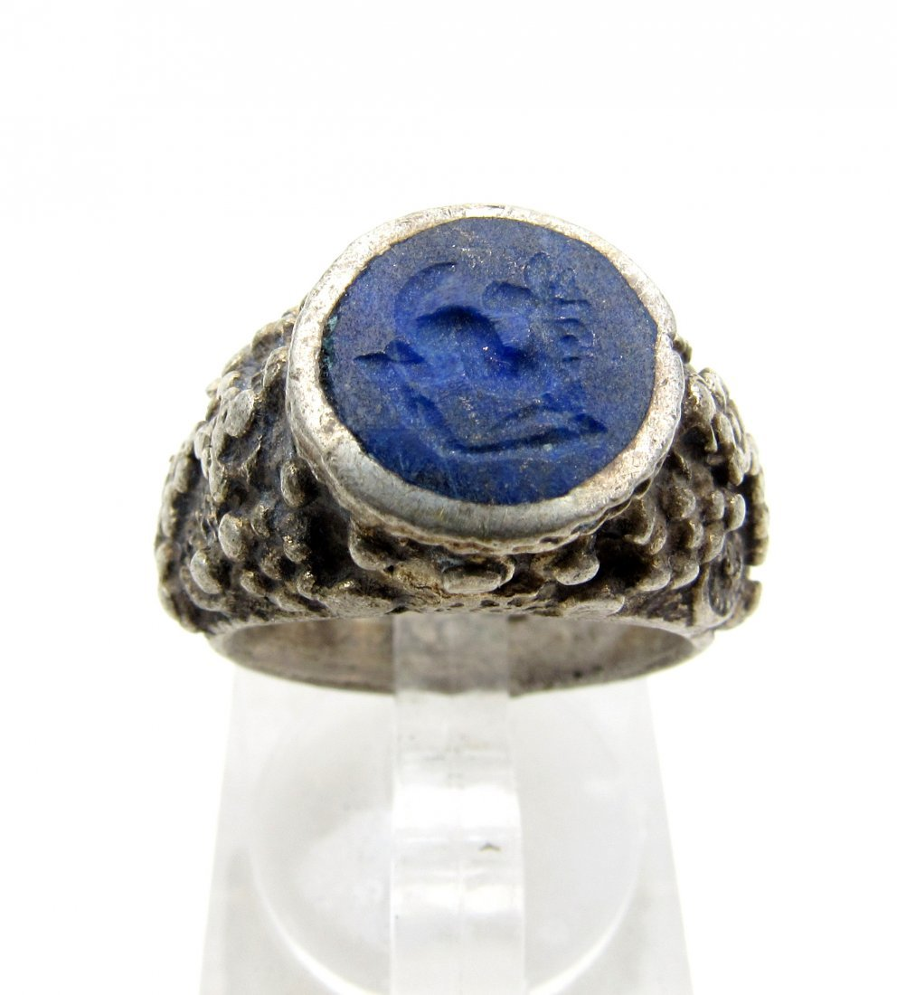 Wearable Post Medieval Lapis Lazuli Intaglio Ring