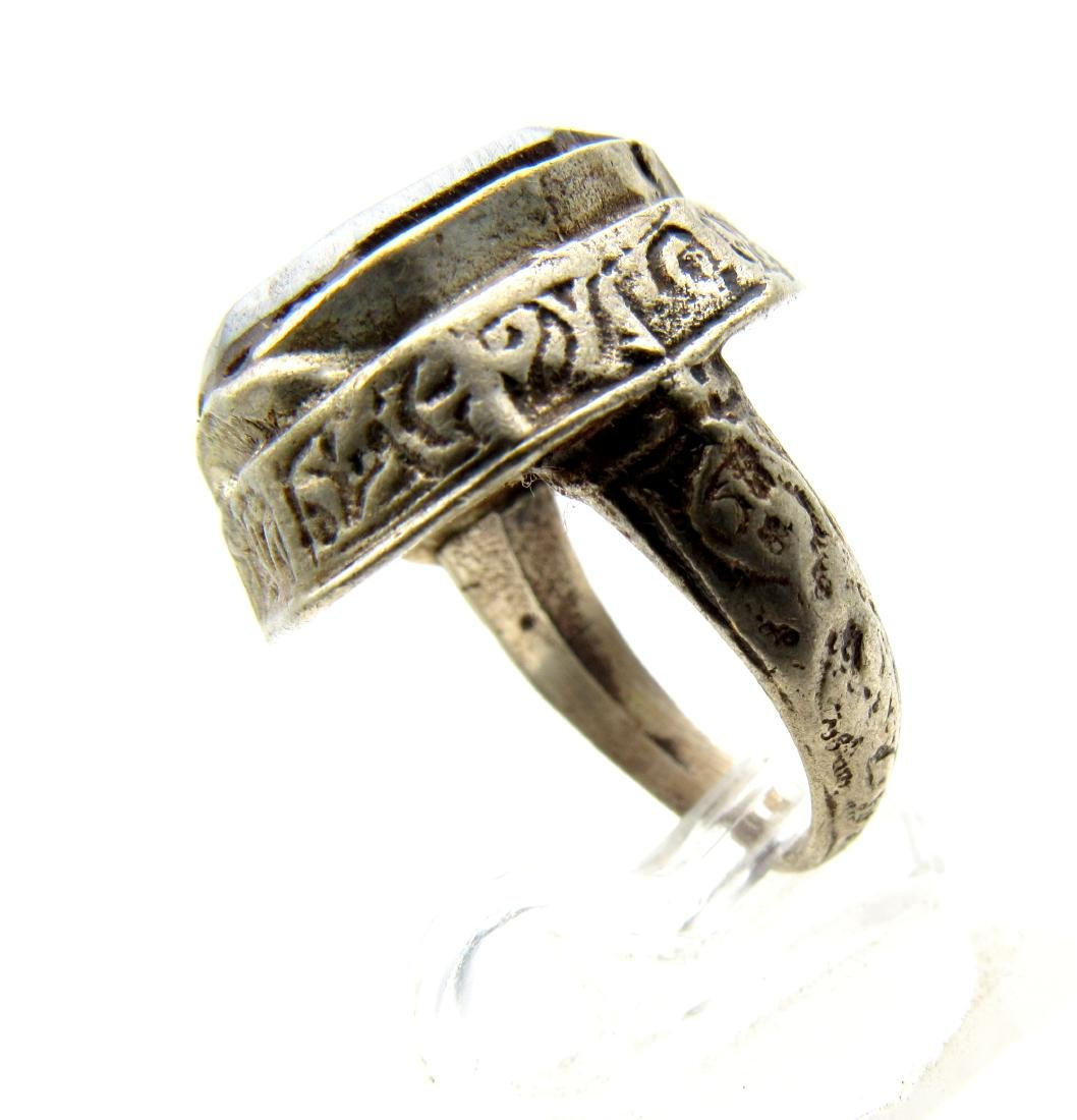 Wearable Post Medieval Hematite Intaglio Ring with