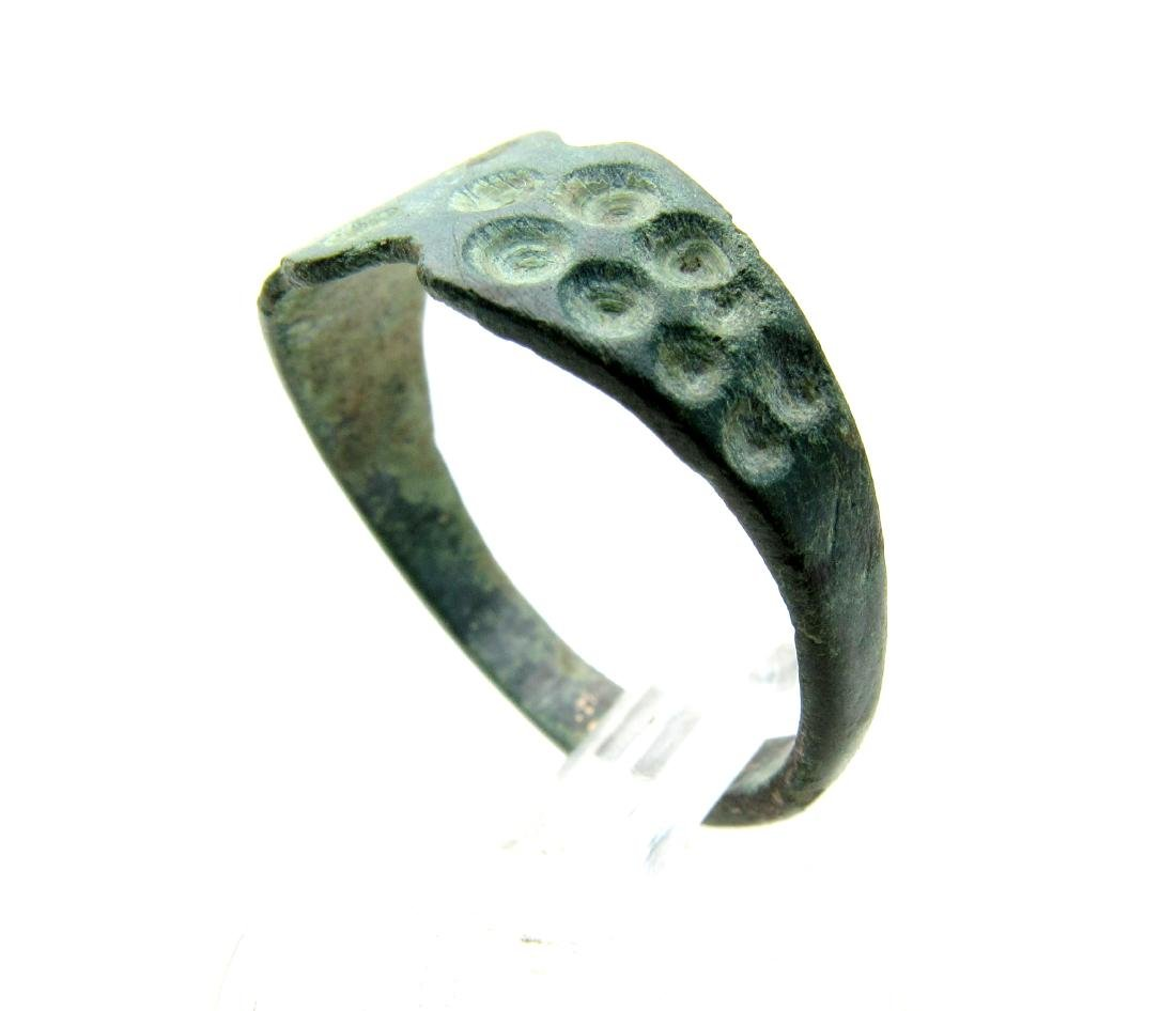Wearable Viking Ring with Solar Symbols