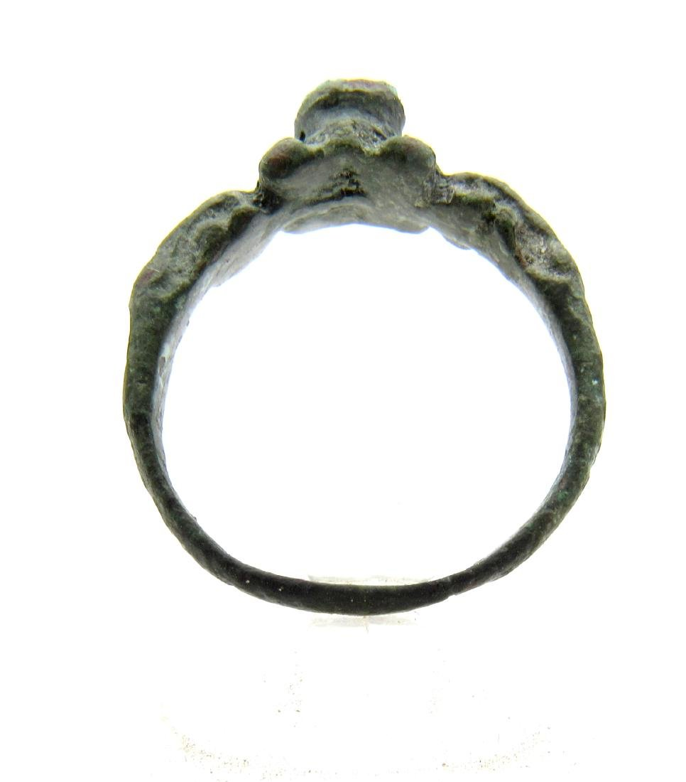 Wearable Medieval Turquoise Stone Ring - 2