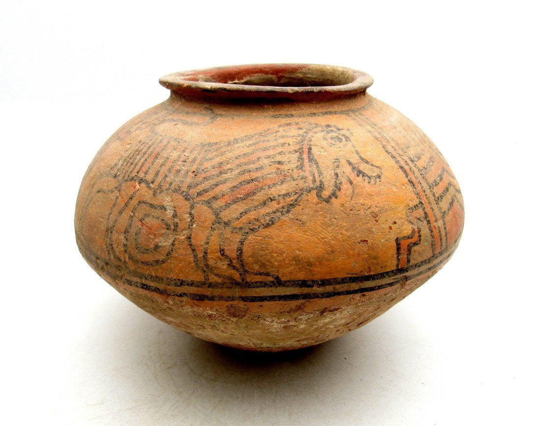 Ancient Indus valley Terracotta Painted Jar with Lion
