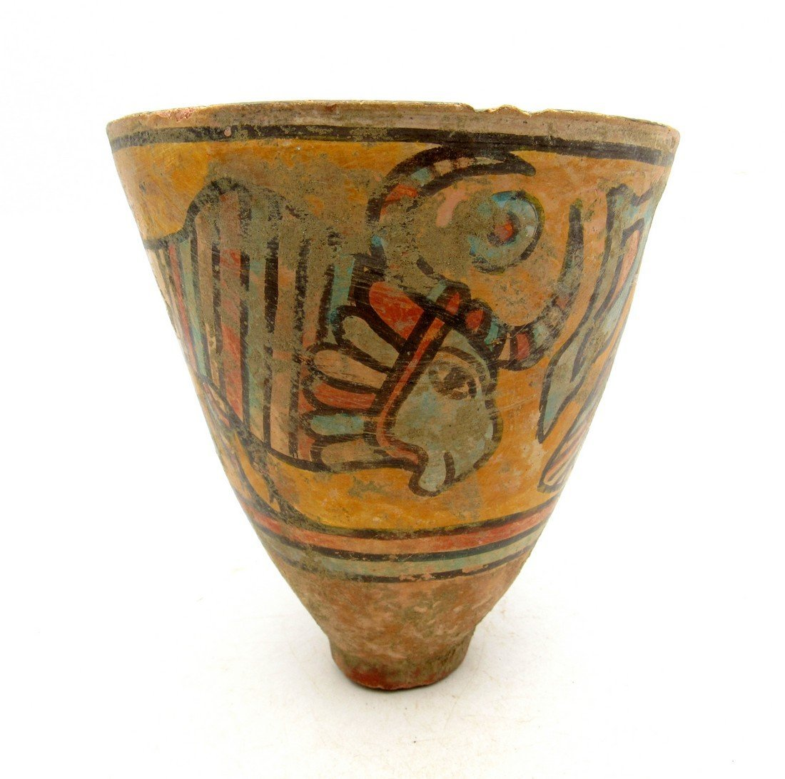 Ancient Indus valley Terracotta Painted Cup with Bull