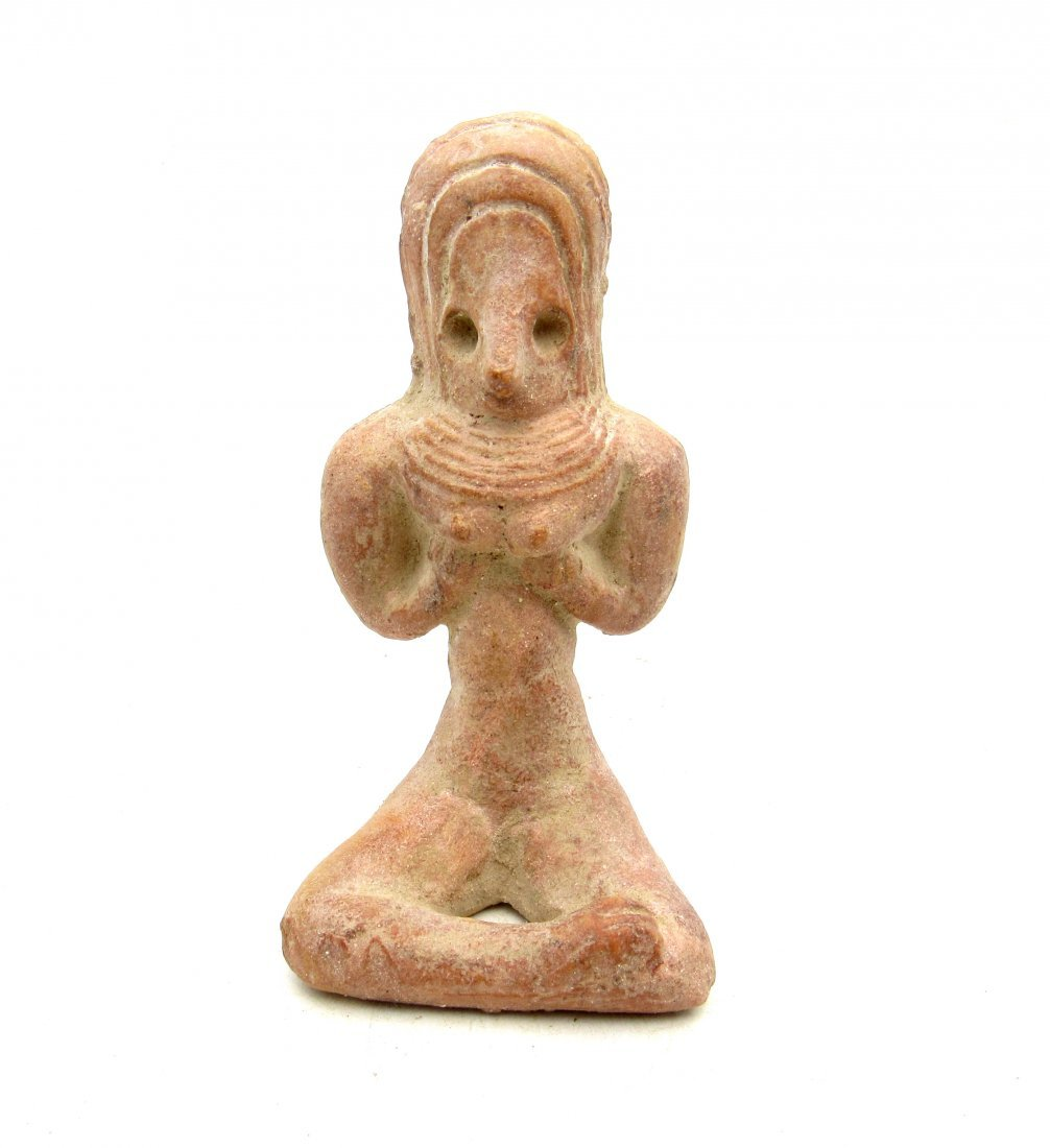 Ancient Indus valley Terracotta Seated Female Idol