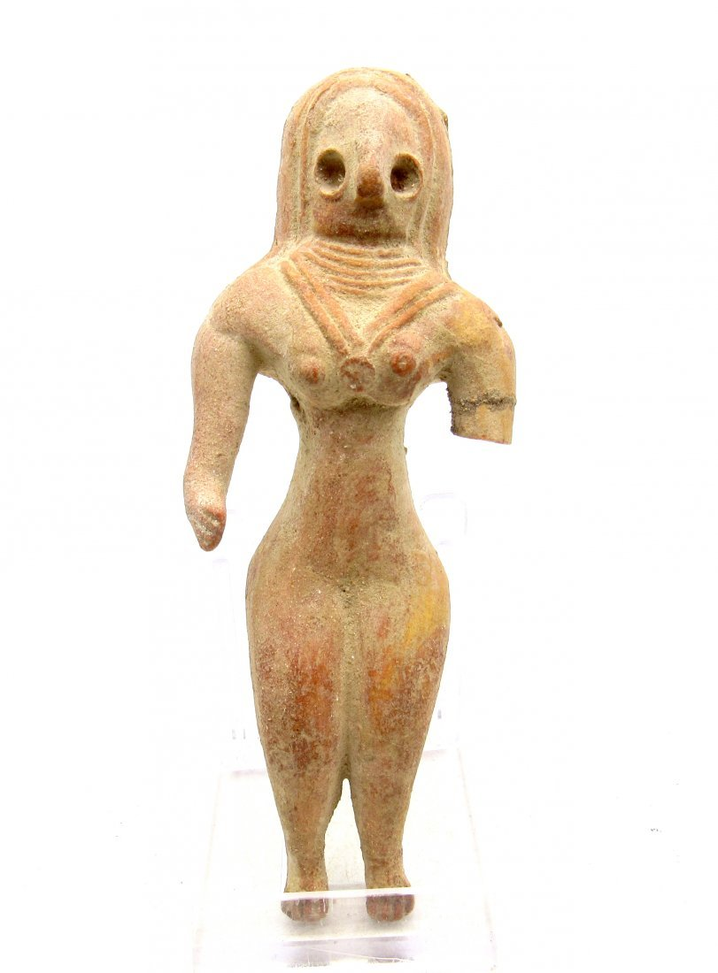 Ancient Indus valley Terracotta Stading Female Idol