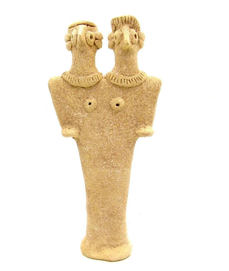 Ancient Syro-Hittite Fertility Idol with Male & Female