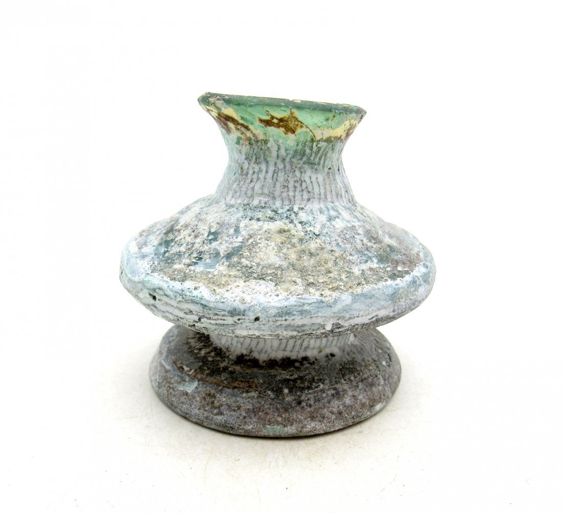 Ancient Roman/ Byzantine Glass Flask