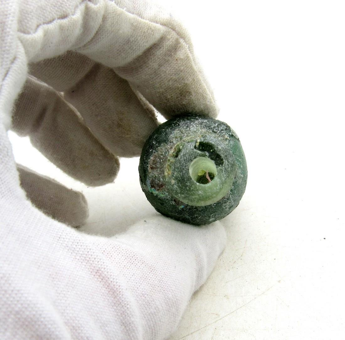 Ancient Roman/ Byzantine Glass Flask - 2