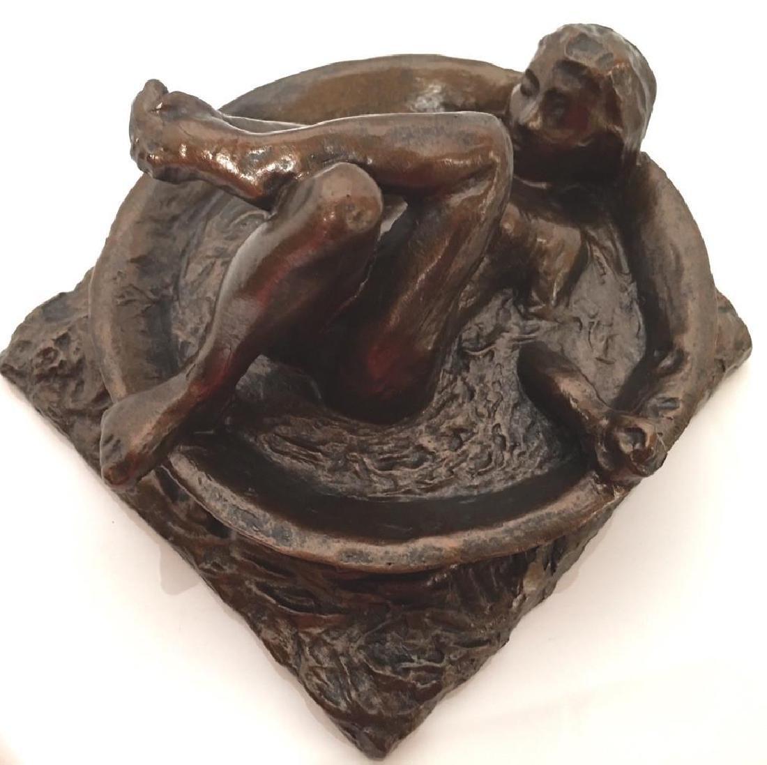 After Edgar Degas: Woman Bathing Statue
