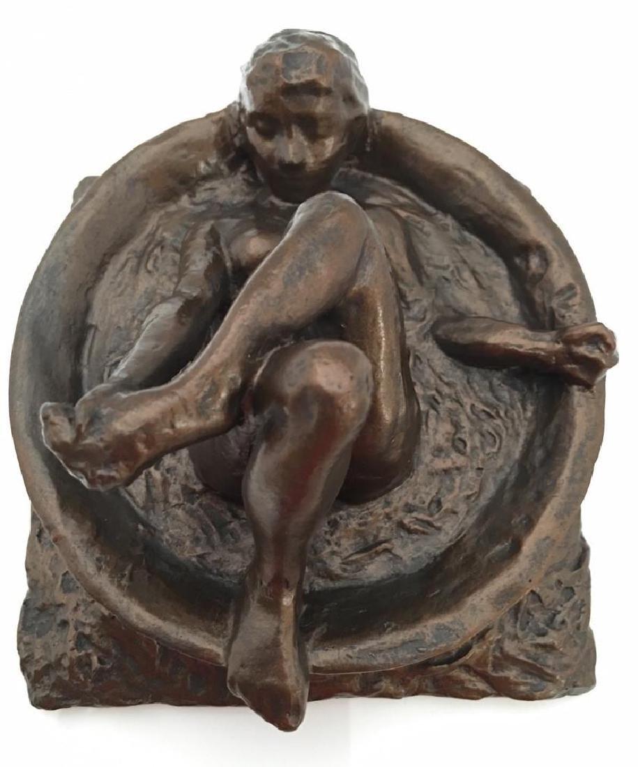 After Edgar Degas: Woman Bathing Statue - 2