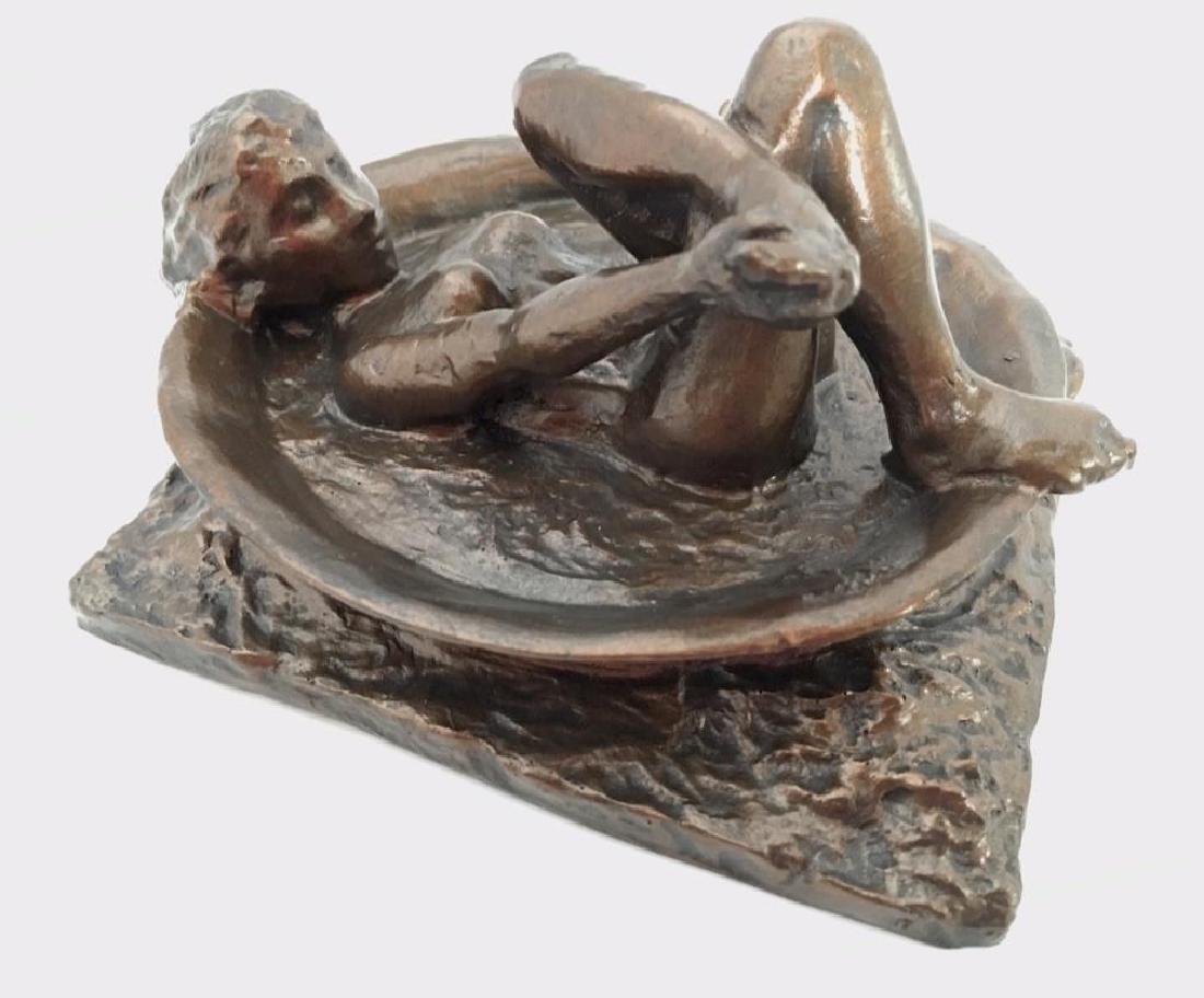 After Edgar Degas: Woman Bathing Statue - 3
