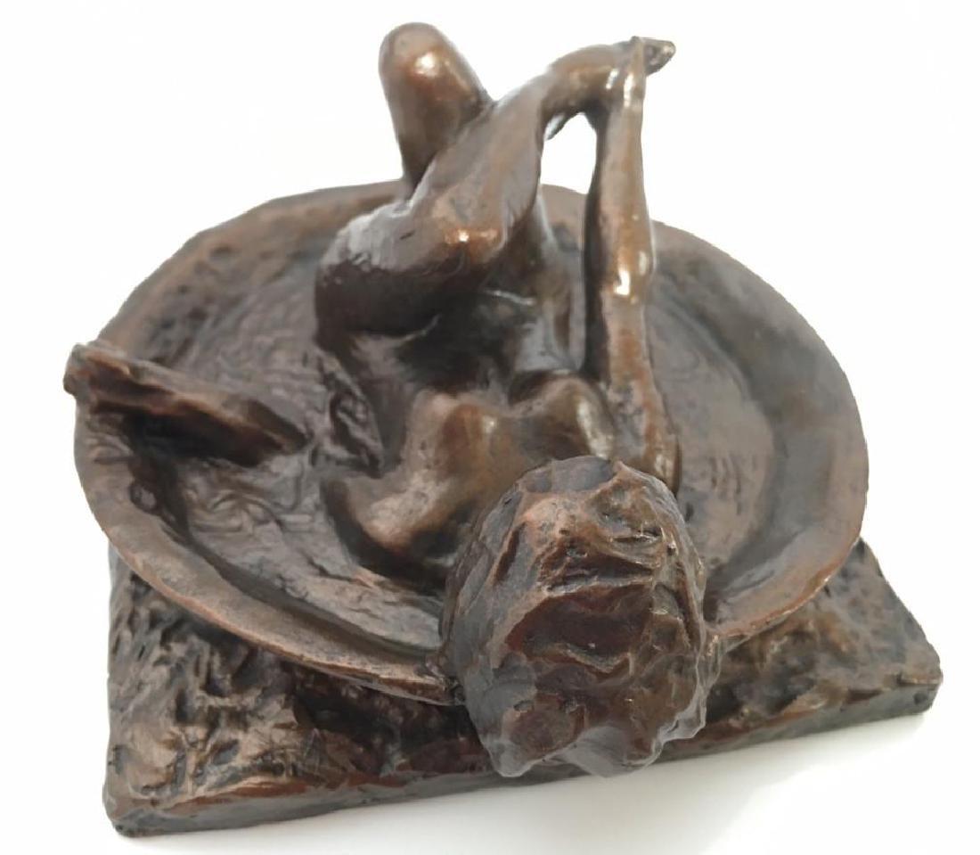 After Edgar Degas: Woman Bathing Statue - 4