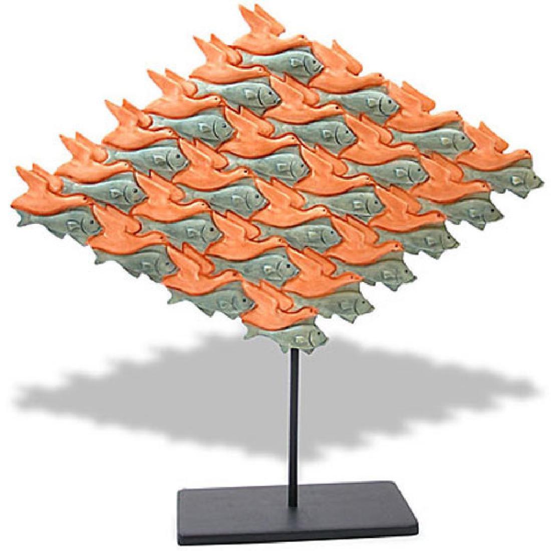 After Maurits Escher: Bird & Fish surface division