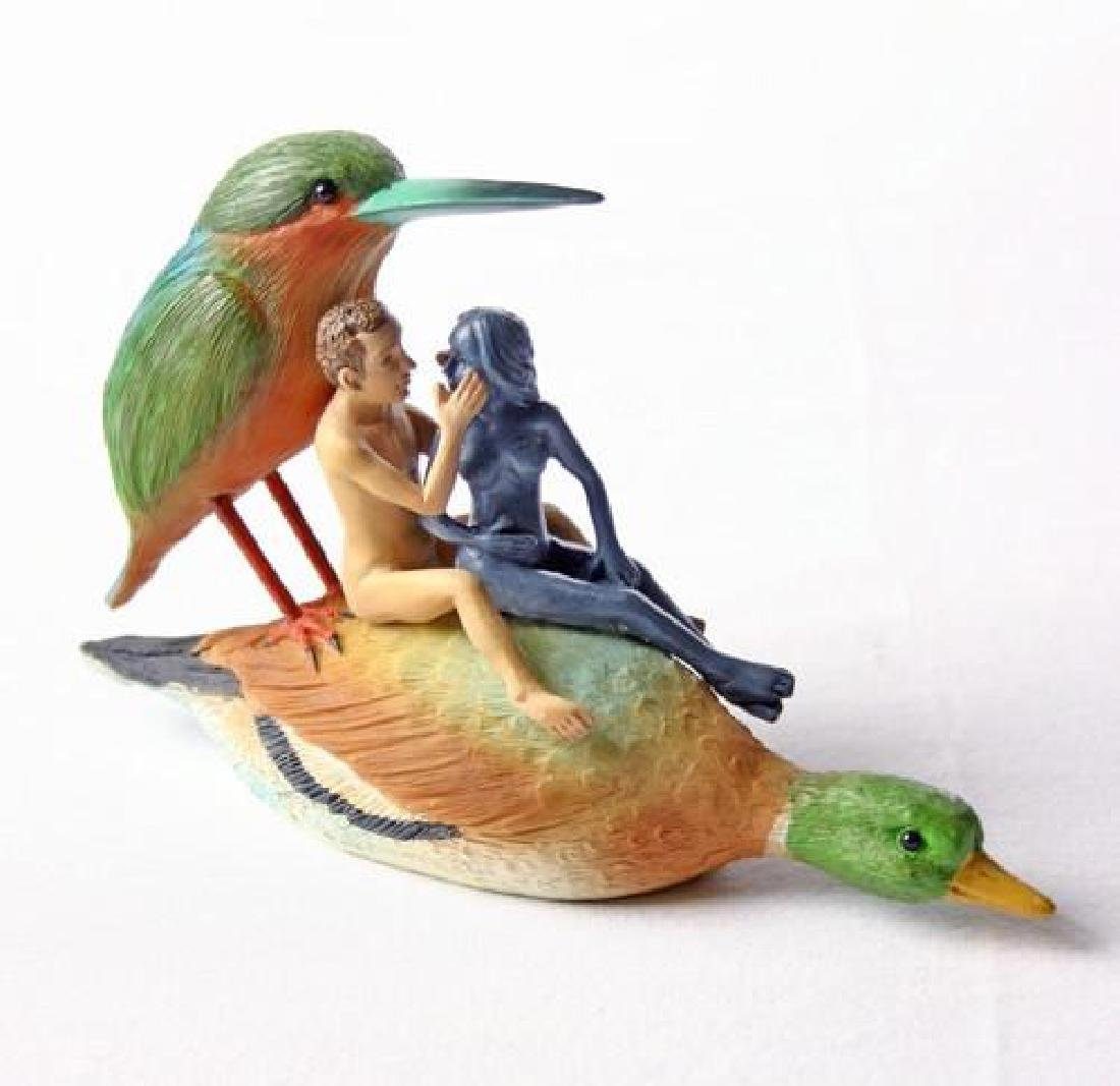 After Jheronimus Bosch: Couple on a Duck Seduction Sin