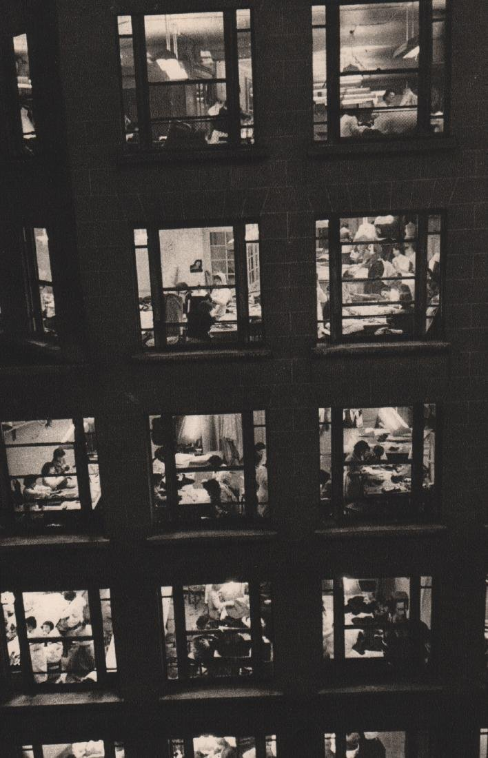 ROBERT DOISNEAU - Working at Night, Paris