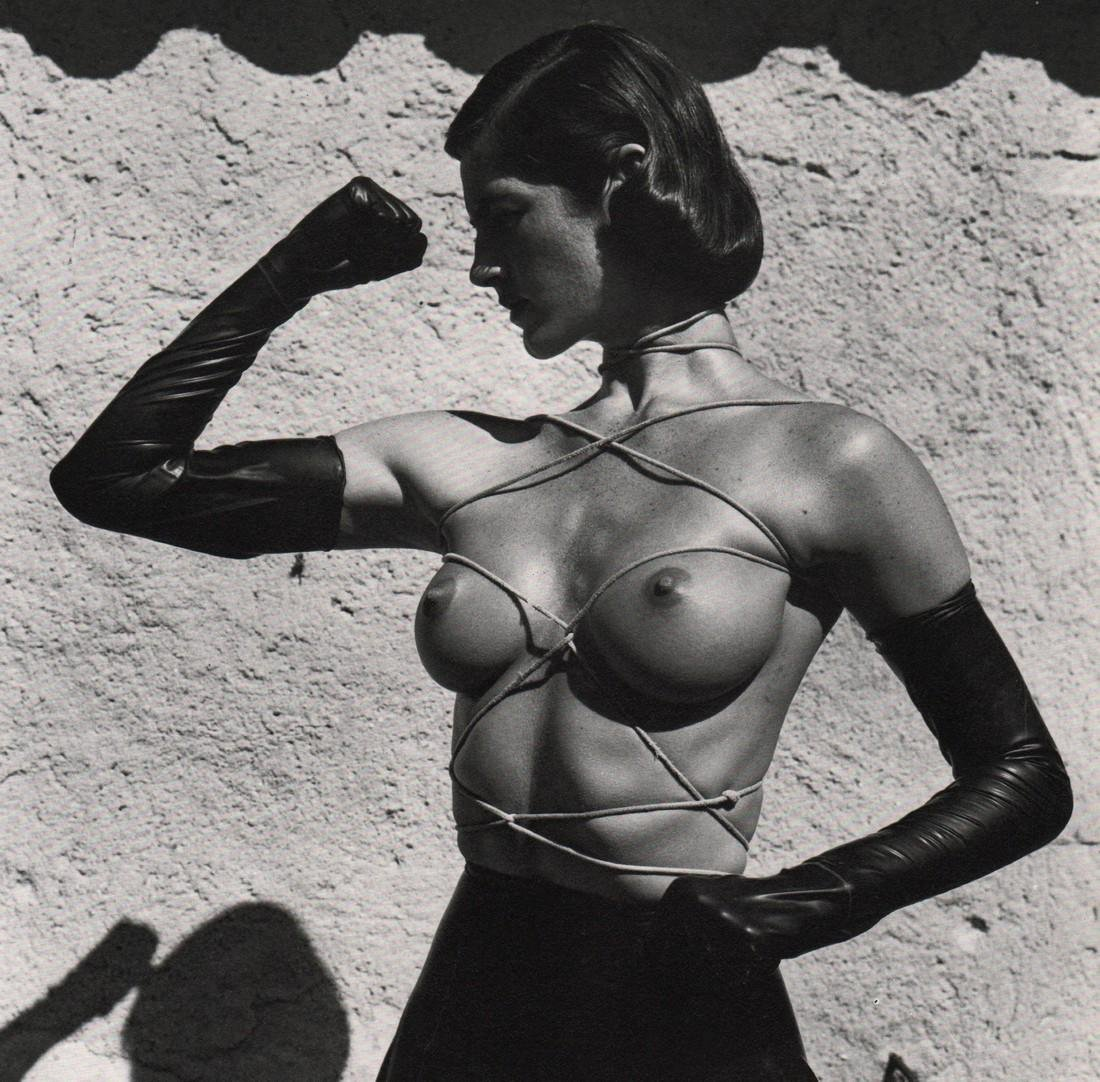 HELMUT NEWTON - Tied up Torso, Ramatuelle, 1980