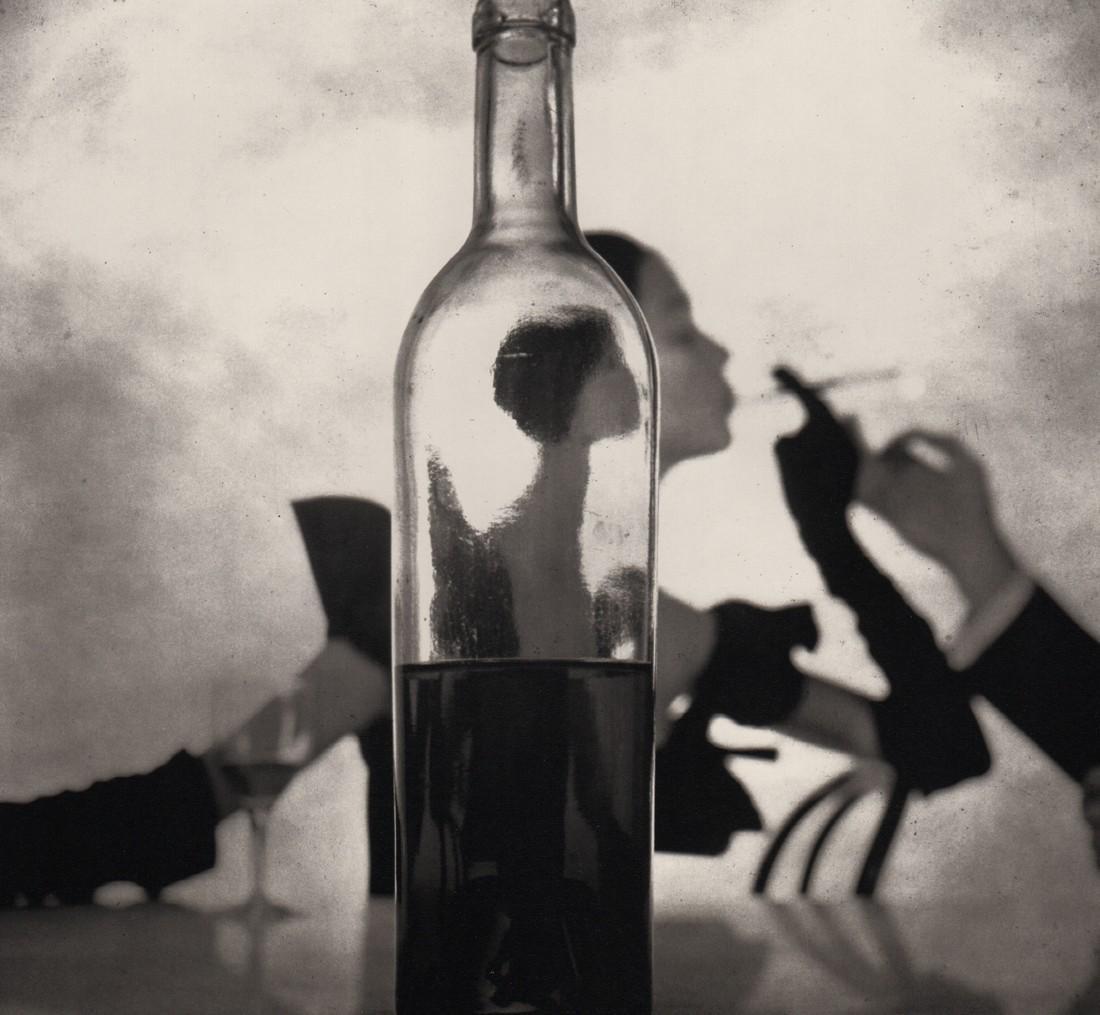 IRVING PENN - Man Lighting Girl's Cigarette NY, 1949