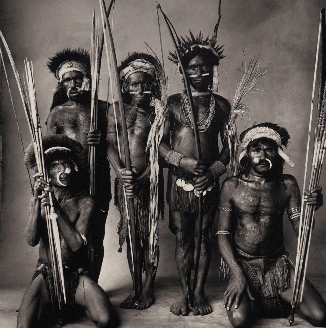 IRVING PENN - Five Okapa Warriors, New Guinea, 1970