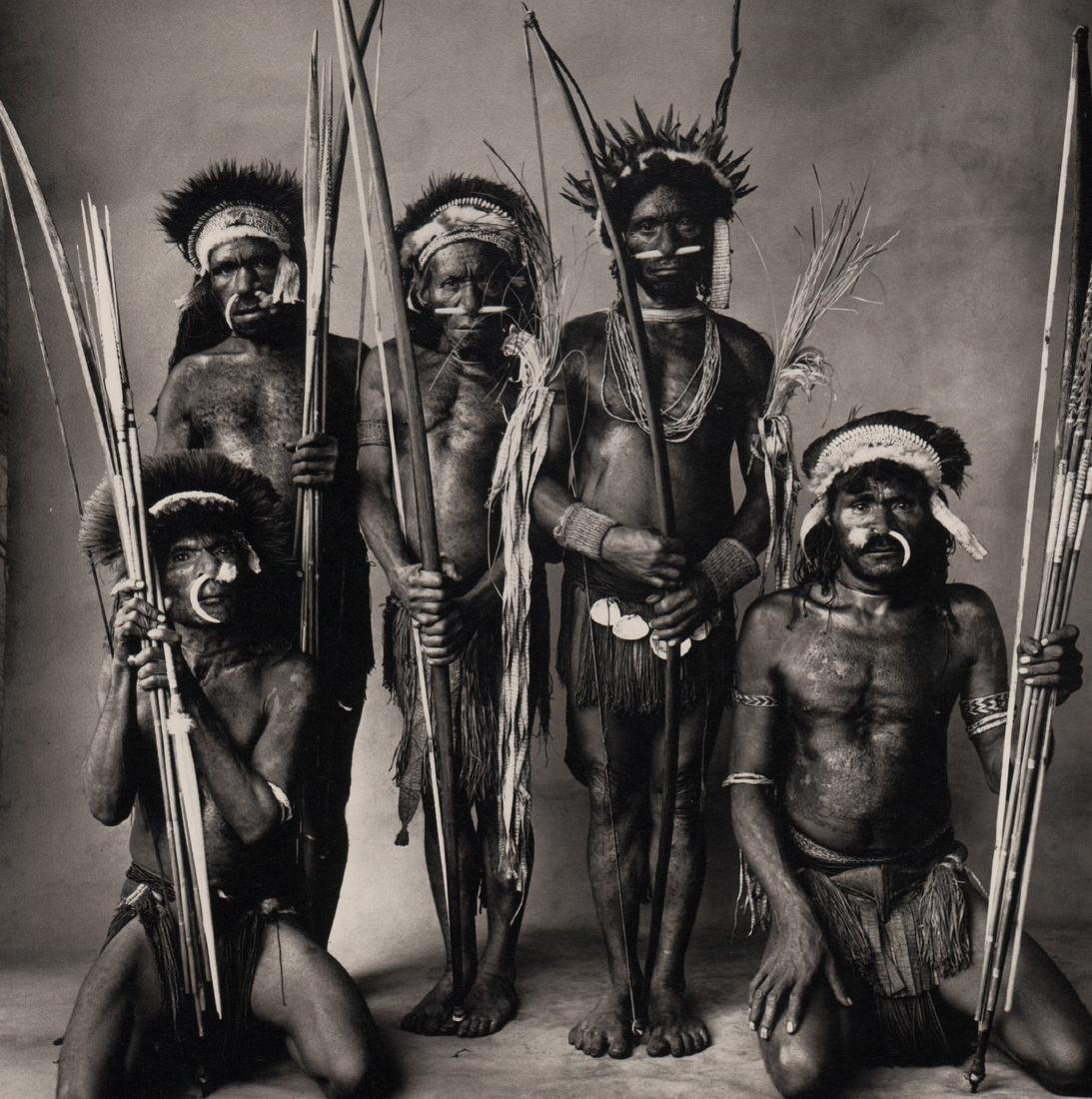 IRVING PENN - Five Okapa Warriors, New Guinea, 1970