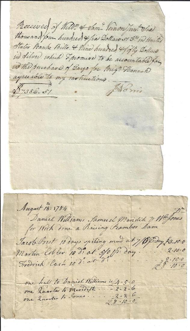 1784 Manuscript Documents Newport Shipping Philadelphia
