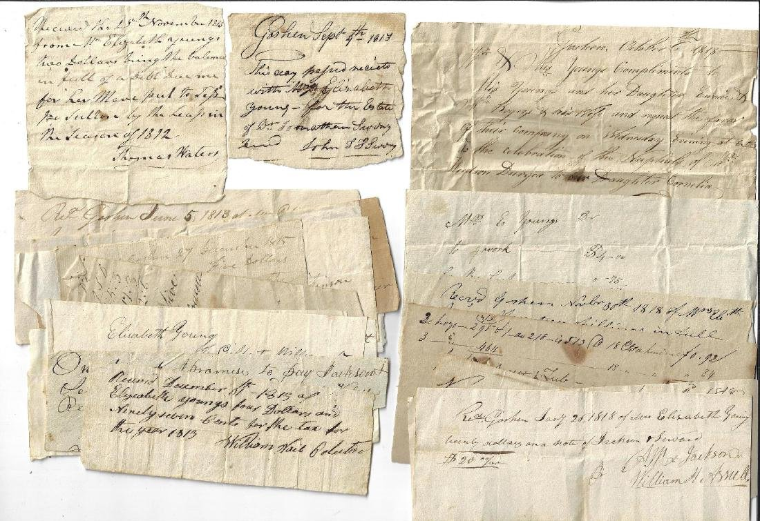 Early 19th C New York Document Lot