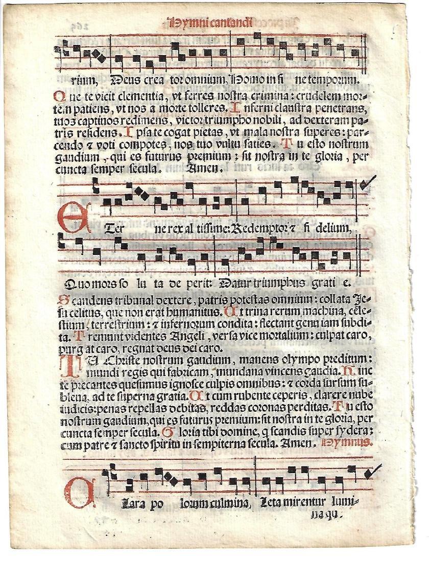 1567 Catholic Hymnal Leaf Music Red and Black