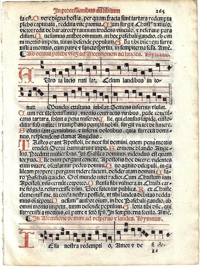 1567 Catholic Hymnal Leaf Music Red and Black - 2