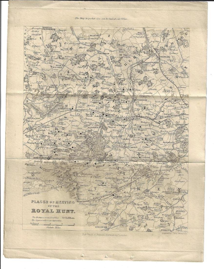 Mid-19th C Hunting Maps Royal Hunt - 2