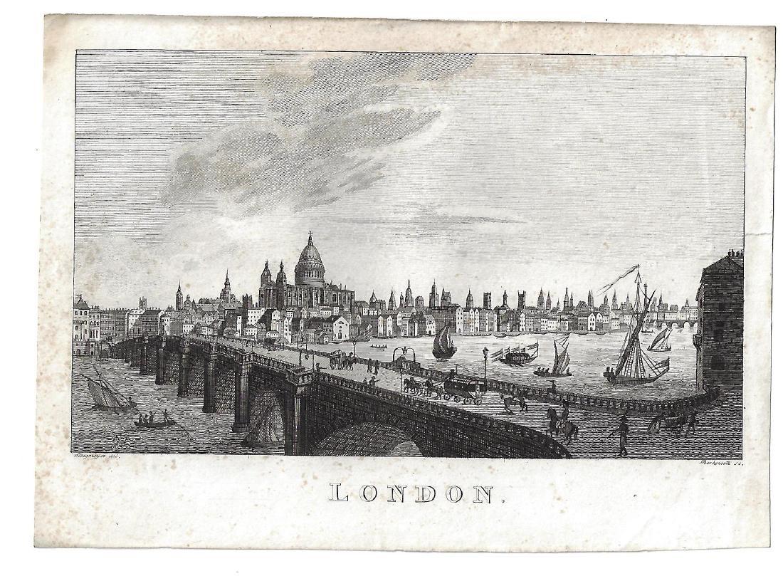 19th C Steel Engraving of London