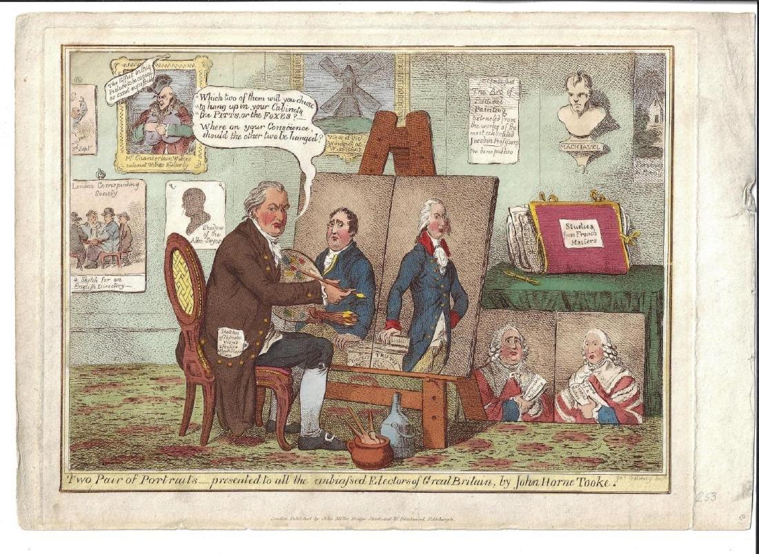 1820 Handcolored Cartoon James Gillray