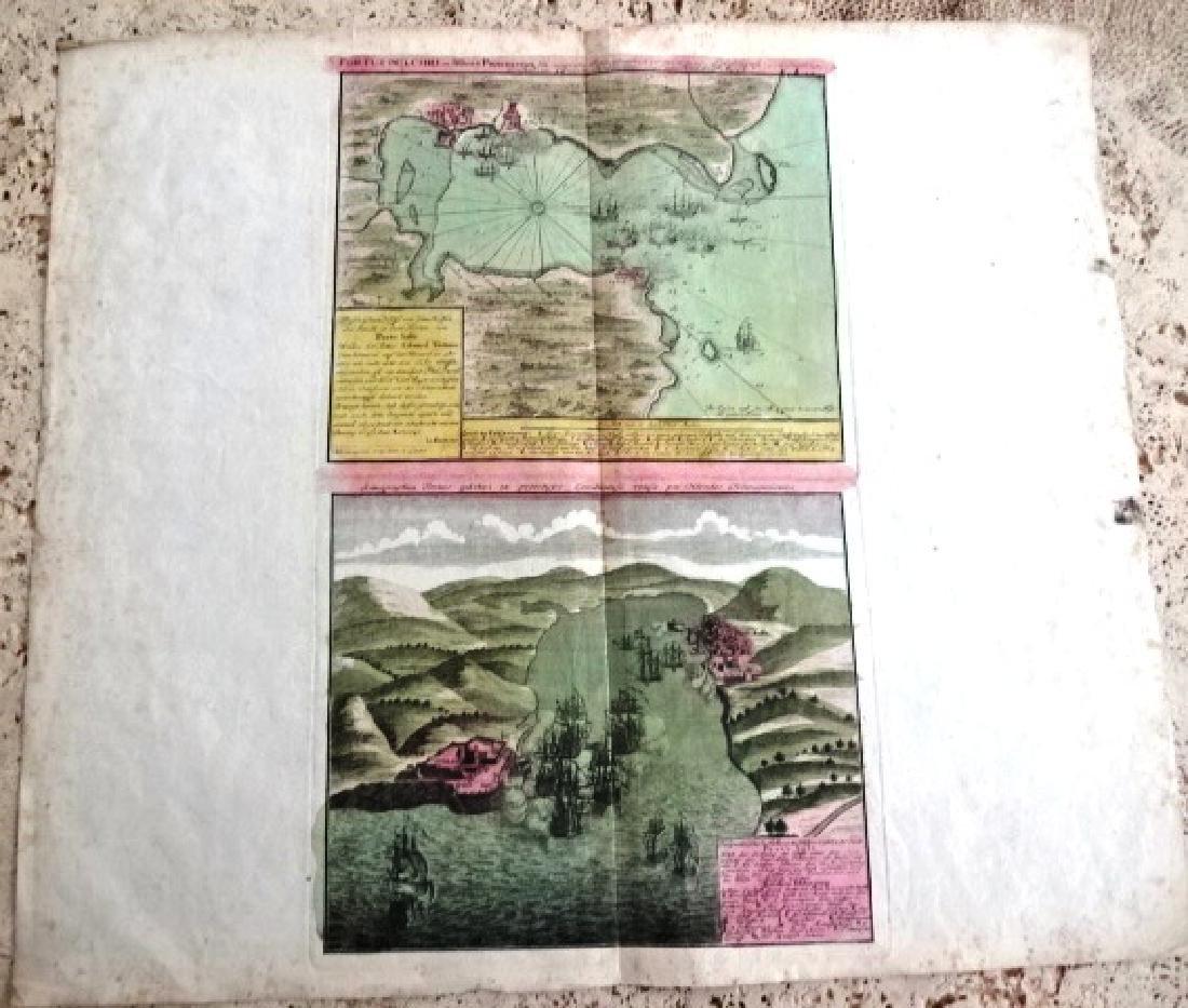 c1750 Homann Map Portus Pulchri Portobello