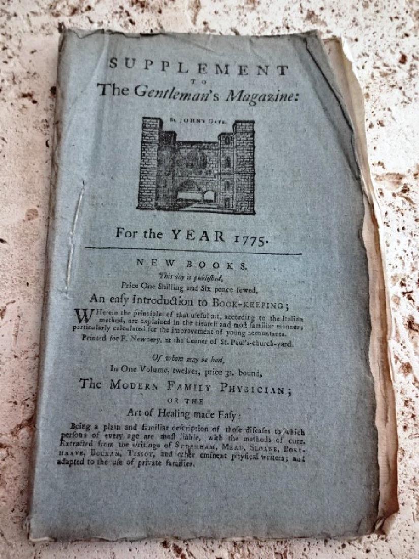1775 Gentleman's Magazine Original Road Map America