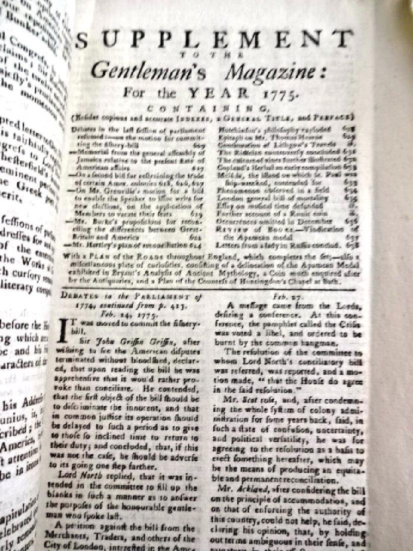 1775 Gentleman's Magazine Original Road Map America - 3