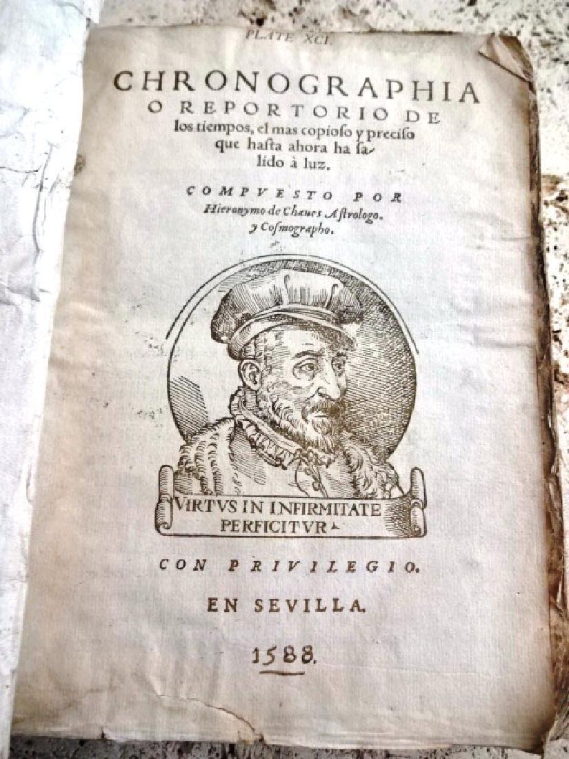 1588 Seville Imprint Chronographia O Reportorio De los