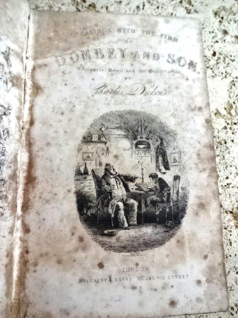 1848 First Ed Dombey and Sons by Charles Dickens