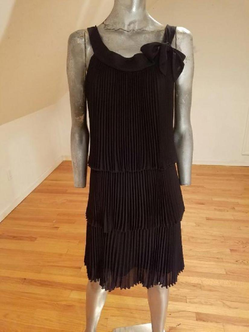 Vintage Charleston flapper dress layers pencil pleated