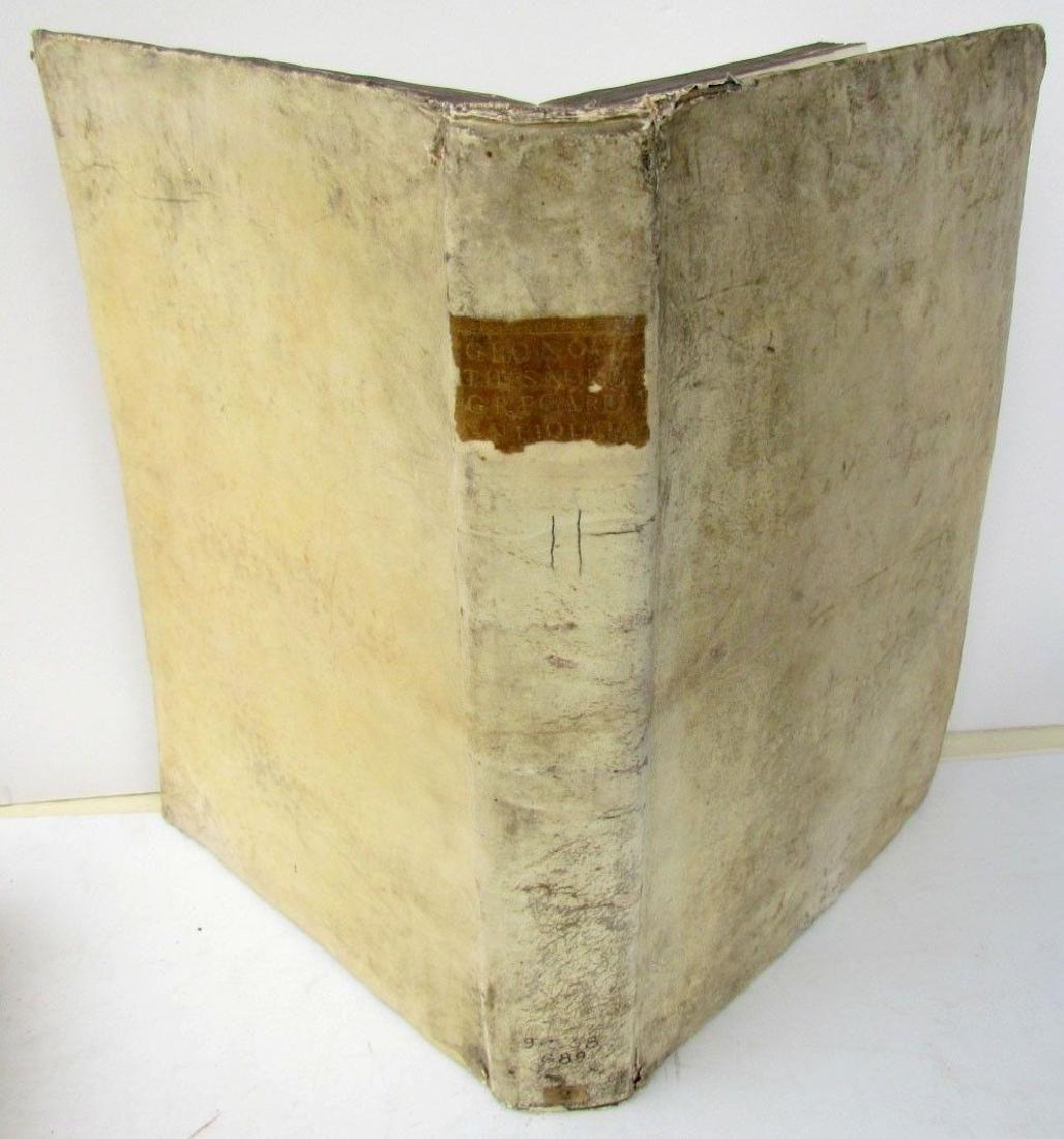 1737 ANTIQUE VELLUM LARGE FOLIO 12 x 17 GREEK