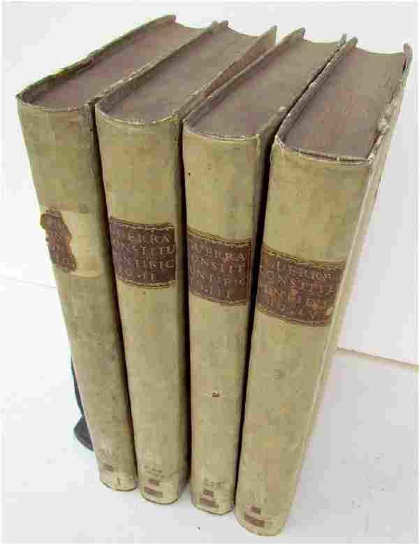 1772 4 VOLUMES ANTIQUE VELLUM LARGE FOLIOS 95 x 16