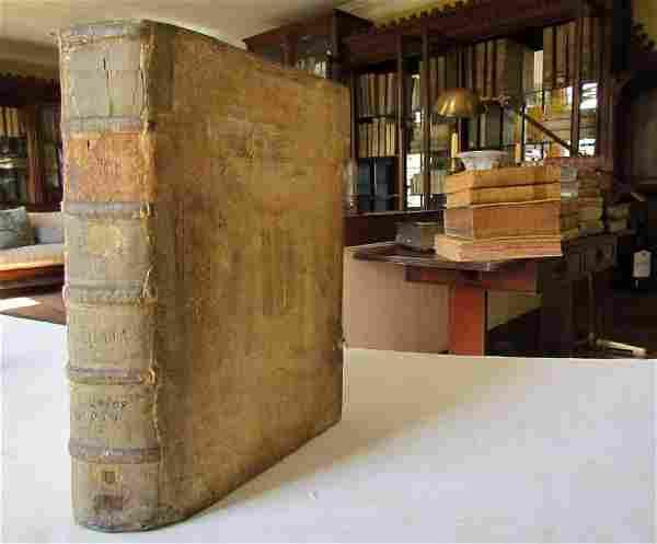 1640s ANTIQUE BLINDSTAMP PIGSKIN FOLIO ANTONINI DIANA