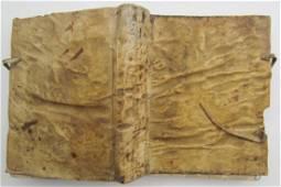 1730 Libro Antiguo Vitela Bound español CLARIN