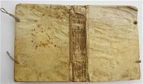 1765 ANTIQUE VELLUM BOUND SPANISH BOOK DIRECTORIO MORAL